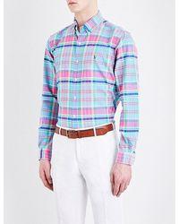 Polo Ralph Lauren | Blue Regular-fit Check-print Cotton Shirt for Men | Lyst