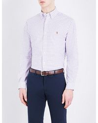 Polo Ralph Lauren   Blue Windowpane Check Regular-fit Pure Cotton Shirt for Men   Lyst