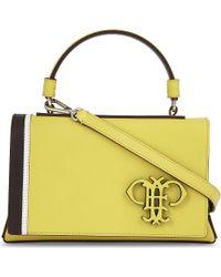 Emilio Pucci | Yellow Insignia Mini Leather Shoulder Bag | Lyst