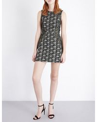 French Connection - Black City Camo Woven Dress - Lyst