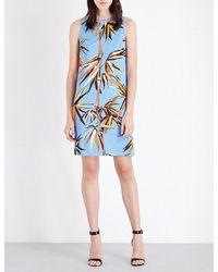 Emilio Pucci | Blue Bamboo-print Jersey Shift Dress | Lyst