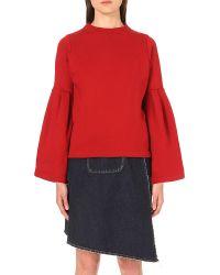 Miharayasuhiro | Red Bell-sleeve Cotton-jersey Sweatshirt | Lyst