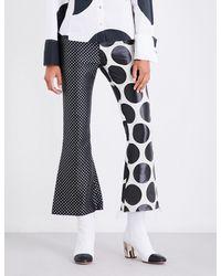 Marques'Almeida - Multicolor Polka-dot Flared Jacquard Trousers - Lyst