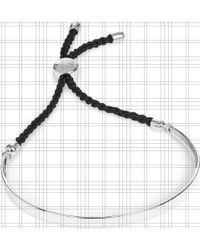 Monica Vinader Metallic Fiji Sterling Silver Friendship Bracelet