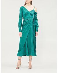 Self-Portrait Green Jacquard Dress