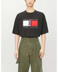 Tommy Hilfiger Multicolor X Lewis Hamilton Logo-print Cropped Cotton-jersey T-shirt for men