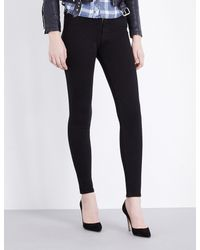 Hudson Black Nico Super-skinny Mid-rise Jeans
