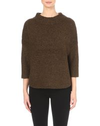 French Connection - Green Rsvp Now Knitted Jumper - Lyst
