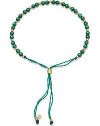 Astley Clarke Metallic Biography Malachite 18ct Gold-plated Beaded Bracelet