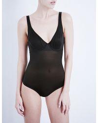 Wolford - Black Sheer Control Bodysuit - Lyst