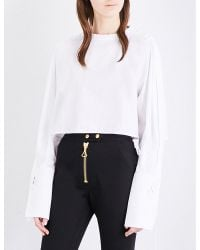 Ellery - White Sleeve-detailed Cotton-poplin Shirt - Lyst