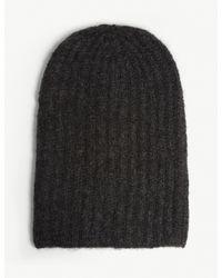 Isabel Benenato Black Knitted Wool Hat