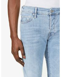 True Religion Blue Tony Faded Slim-fit Jeans for men