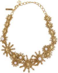 Oscar de la Renta - White Sun And Pearl Charm Necklace - Lyst