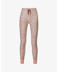 The Upside Multicolor Leopard-print High-rise Stretch-jersey leggings