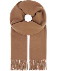 The Kooples - Brown Solid Wool Scarf - Lyst