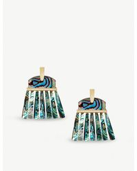Kendra Scott - Blue Layne 14ct Gold-plated Abalone Shell Earrings - Lyst