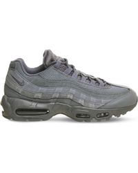Nike Gray Air Max 95 Suede And Mesh Trainers for men