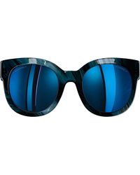 Chanel Blue Butterfly Sunglasses