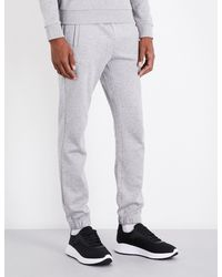 BOSS Green - Gray Relaxed-fit Jersey Jogging Bottoms for Men - Lyst
