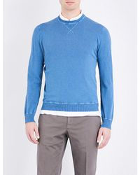 Slowear   Blue Washed Cotton Jumper for Men   Lyst