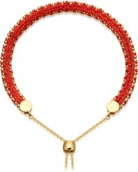 Astley Clarke - Metallic Kula Biography 18ct Yellow-gold Vermeil Hot Coral Bracelet - Lyst