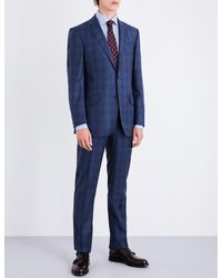 Richard James - Blue Prince Of Wales Check Regular-fit Wool Suit for Men - Lyst