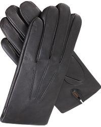 Dents Black Cashmere-lined Leather Gloves for men