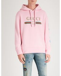 Gucci Pink Dragon Hoodie for men