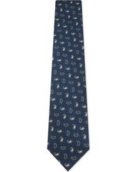 Ermenegildo Zegna - Blue Mens Traditional Teardrop Silk Tie for Men - Lyst
