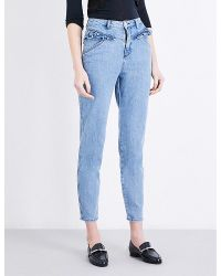 Claudie Pierlot   Blue Pulp High-rise Skinny Cropped Jeans   Lyst