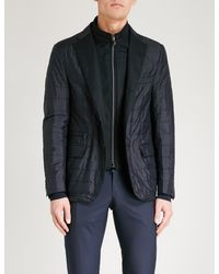 Corneliani Blue Layered Shell Jacket for men