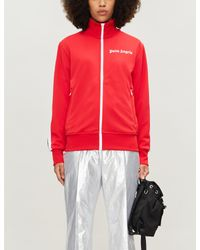 Palm Angels Red Logo-print Jersey Track Jacket