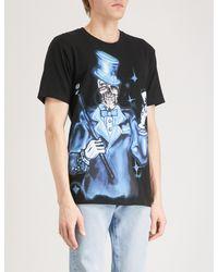 Stussy Black Joker-print Cotton-jersey T-shirt for men