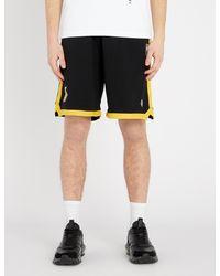 Marcelo Burlon Black La Lakers Cotton Shorts for men
