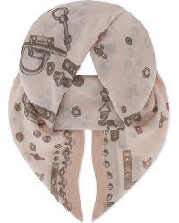 Vivienne Westwood - Multicolor Hardware Wool Scarf - Lyst