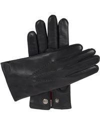 Dents Mens Black Burford Cashmere-lined Leather Gloves for men