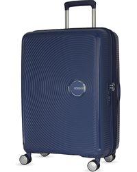 American Tourister - Blue Soundbox Expandable Four-wheel Suitcase 67cm for Men - Lyst