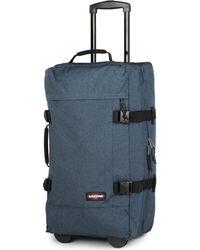 Eastpak Blue Transfer Medium Two-wheel Suitcase 66cm