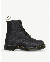 Dr. Martens Black Pascal 8-eye Glitter Boots