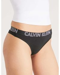 Calvin Klein Black Ultimate Stretch-cotton Thong