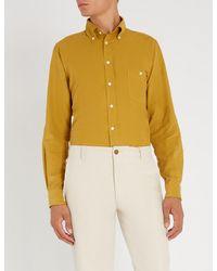 Richard James - Yellow Contemporary-fit Fine Needle Cotton-corduroy Shirt for Men - Lyst