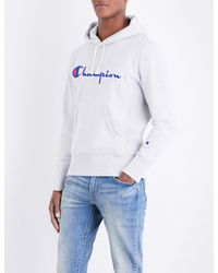 358028fa65b3 Lyst - Champion Classic Cotton-jersey Hoody in Gray for Men