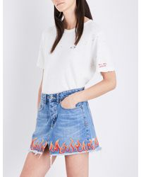 Ksubi - White Tell Them Nothing Cotton And Linen-blend T-shirt - Lyst