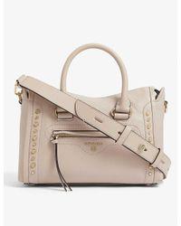 MICHAEL Michael Kors Natural Carine Pebbled-leather Cross-body Bag