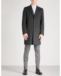 Paul Smith Gray Epsom Single-breasted Wool And Cashmere-blend Coat for men