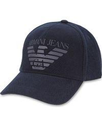 Armani Jeans | Blue Cotton Canvas Eagle Baseball Cap for Men | Lyst