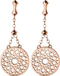 Links of London | Pink Timeless 18ct Rose-gold Vermeil Earrings | Lyst