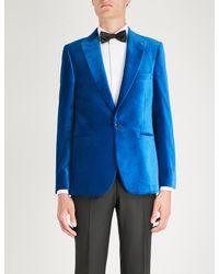 Paul Smith Blue Soho-fit Velvet Evening Blazer for men
