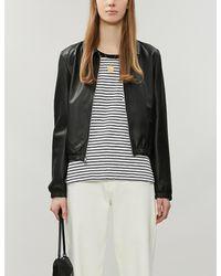 The White Company Black Striped Cotton-jersey Top